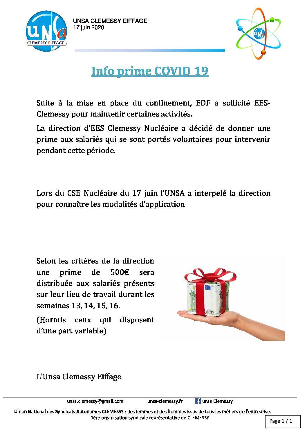Info prime COVID 19